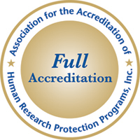 AAHRPP Full Accreditation Seal